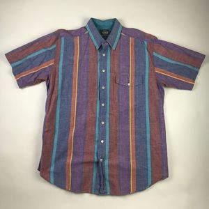 Woolrich Mens Button Front Shirt Multicolor XL